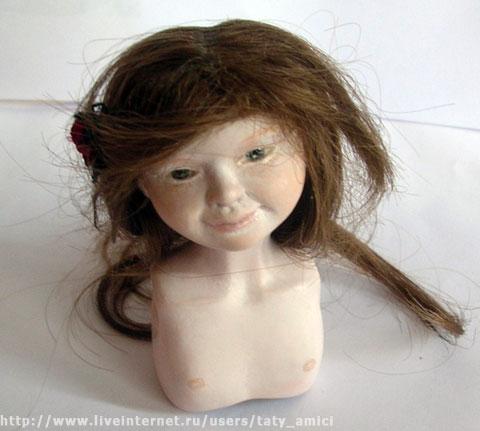 Шарнирная кукла из папье-маше. Часть 13-14