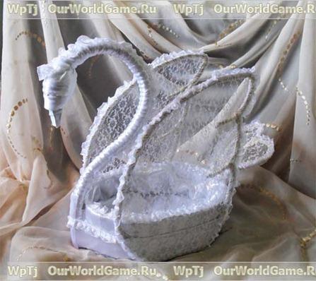 Подарочная корзинка «Лебедь»