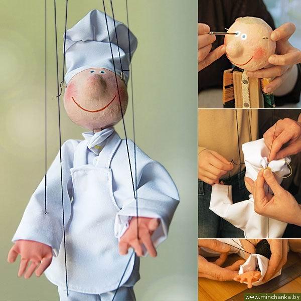 Как сделать куклу на руку марионетку своими
