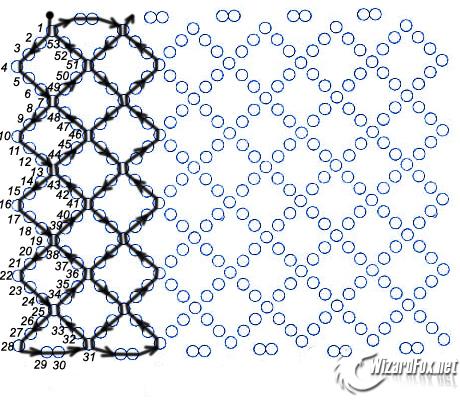 Схема плетения сетки