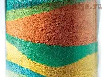 Как сделать цветной песок