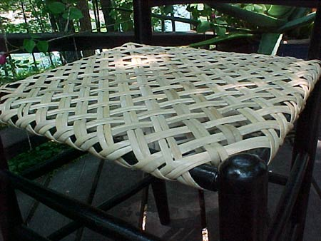 Плетение сидений стульев из тростника и камыша