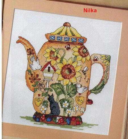 Схема вышивки «Чайник»