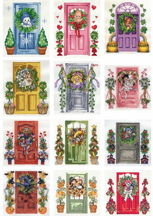 Схемы вышивки дверей