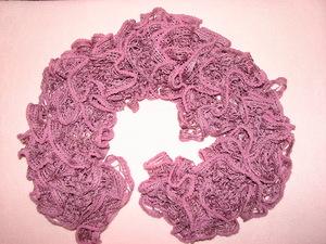 Как вязать шарфик из ленточной пряжи