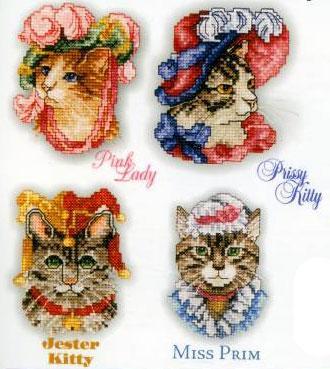 Вышиваем кошек и котов